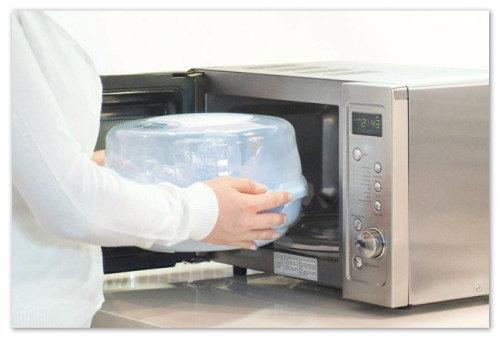 Как стерилизовать детские бутылочки в микроволновой печи