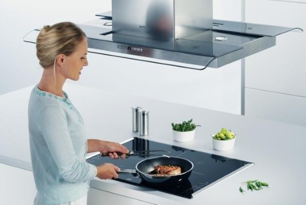 На каком расстоянии от плиты устанавливается вытяжка