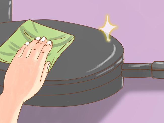 почистить вафельницу от нагара
