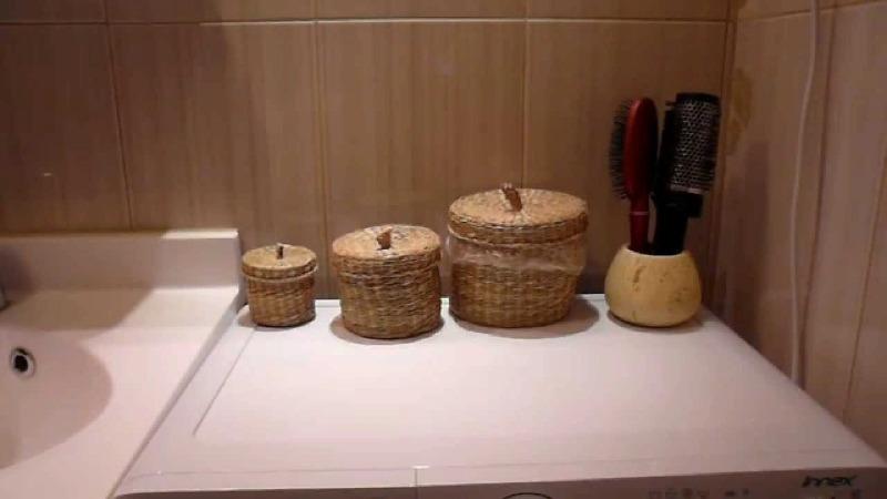 Плетёные корзинки для ванной